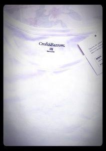 New White Shirt Short Sleeve Crew Neck 3X